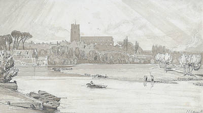 Drawing - The Town Of Beccles From The Bridge by John Sell Cotman
