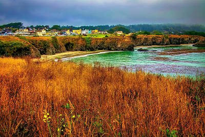 Photograph - The Town Of Mendocino by Garry Gay