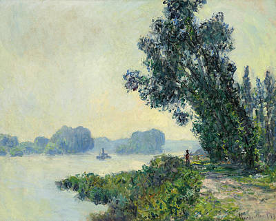 The Towpath At Granval Art Print by Claude Monet