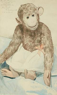 Boris Mikhailovich Kustodiev Painting - The Toy Monkey by Boris Mikhailovich
