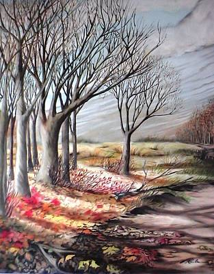 Painting - The Trail - Le Chemin by Therese Rouleau