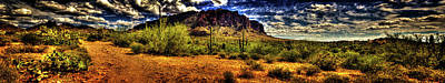 Photograph - The Trail Turns Toward Superstition Mountain by Roger Passman