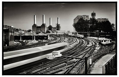 Photograph - The Train And Battersea Power Station by Lenny Carter