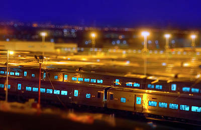 Miniature Nyc Photograph - The Trainyards by Mark Andrew Thomas
