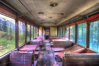 Photograph - The Tram Leaves The Station... Inside by Enrico Pelos