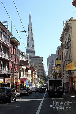 Photograph - The Transamerica Pyramid Through Chinatown San Francisco California 7d7383 by San Francisco Art and Photography