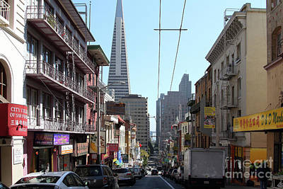 Photograph - The Transamerica Pyramid Through Chinatown San Francisco California 7d7384 by San Francisco Art and Photography