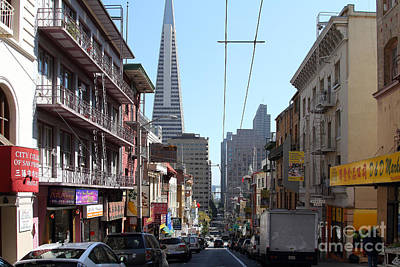 The Transamerica Pyramid Through Chinatown San Francisco Art Print