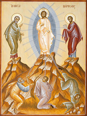 Orthodox Painting - The Transfiguration Of Christ by Julia Bridget Hayes