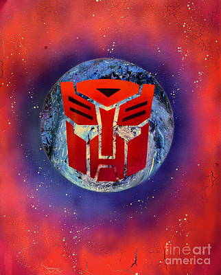 Illustrations Painting - The Transformers by Justin Moore