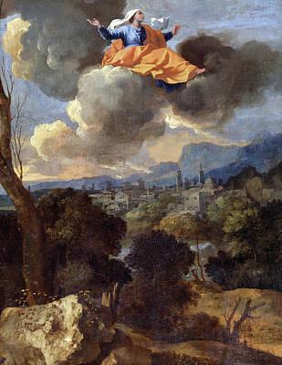Rita Painting - The Translation Of Saint Rita Of Cascia by Nicolas Poussin