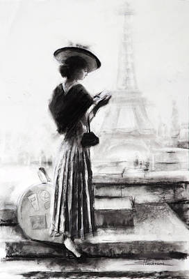 Black And White Art Painting - The Traveler by Steve Henderson