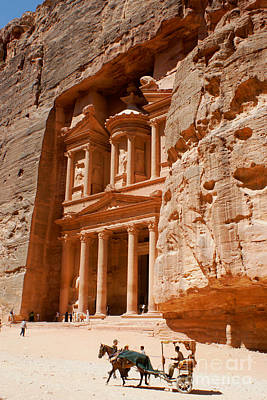 Photograph - The Treasury At Petra by David Birchall