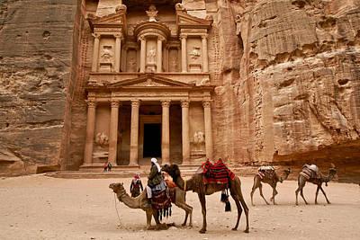Jordan Photograph - The Treasury Of Petra by Michele Burgess
