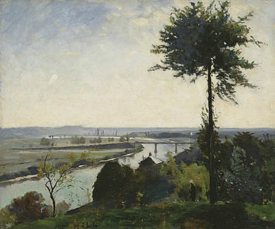 Painting - The Tree And The River IIi by Carl Fredrik Hill