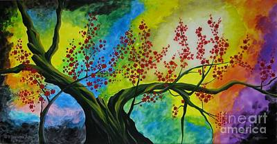 Vetro Painting - The Tree by Betta Artusi