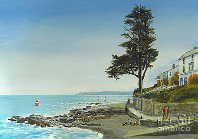 The Tree By The Sea Art Print