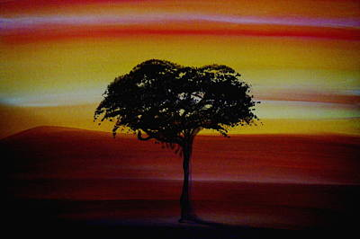 Sunrise Painting - The Tree by Catherine Eager