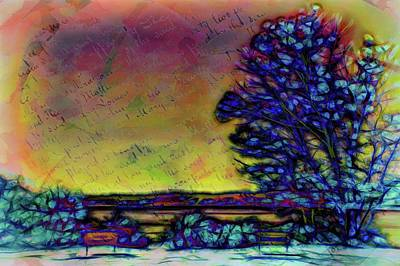 Digital Art - The Tree In The Park by Lilia D