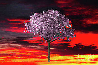 Digital Art - The Tree In The Sunrise by Donna L Munro