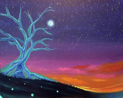 Painting - The Tree Of Energy by JJ Long