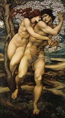 The Tree Of Forgiveness Art Print by Edward Burne Jones