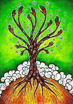 Trippy Painting - The Tree Of Life by Darya Lavinskaya