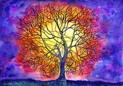 Painting - The Tree Of New Life by Kseniya Lisitsyna