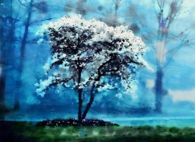 Digital Art - The Tree Of Snows by Mario Carini
