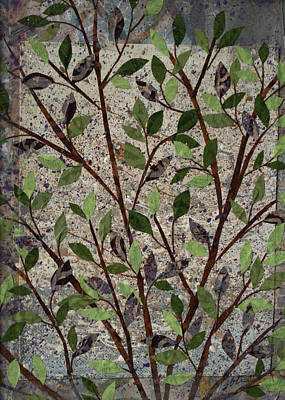 Mixed Media - The Tree She Planted by Janyce Boynton
