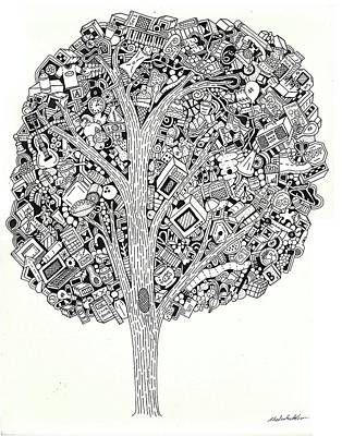 Drawing - The Tree That Never Fails by Chelsea Geldean