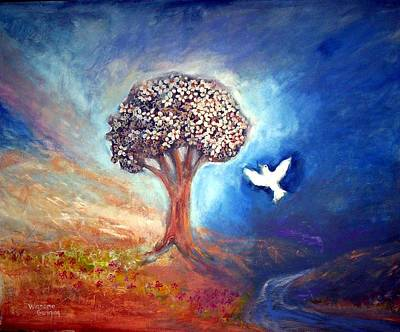 Painting - The Tree by Winsome Gunning