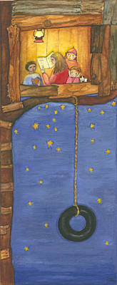 Treehouse Painting - The Treehouse by Barbara Esposito