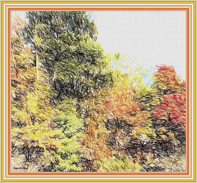 The Trees Of Autumn Art Print by Debra Lynch