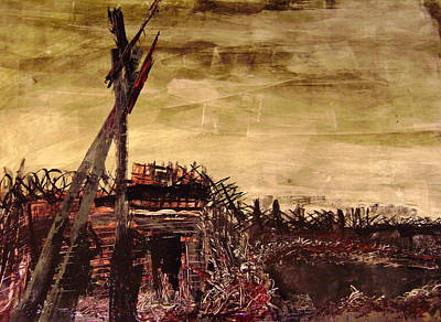 1916 Mixed Media - the Trench by Bart Vromans