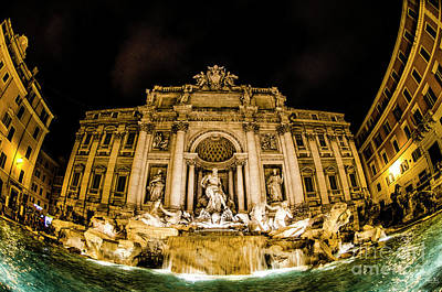 Classic Christmas Movies - The Trevi Fountain at Night by Julian Starks