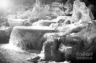 Horsey Photograph - The Trevi Fountain Detail In Rome by Stefano Senise