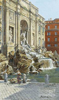 The Trevi Fountain In Rome Art Print
