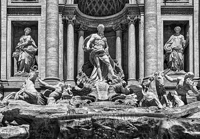 Photograph - The Trevi Fountain In Rome by Eduardo Jose Accorinti