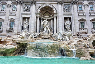 Photograph - The Trevi Fountain In Rome Italy by Richard Rosenshein