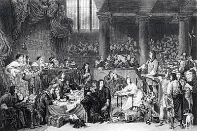 The Trial Of Lord William Russell 1683 Art Print