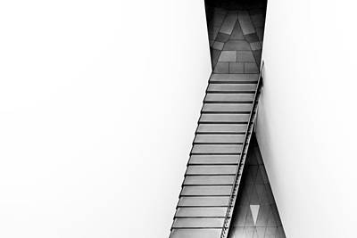 Stairs Photograph - The Triangular Tile by Gerard Jonkman