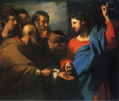 Painting - The Tribute Money 1782 by Copley John Singleton