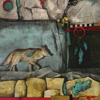 Squares Mixed Media - The Trickster by Laura Lein-Svencner