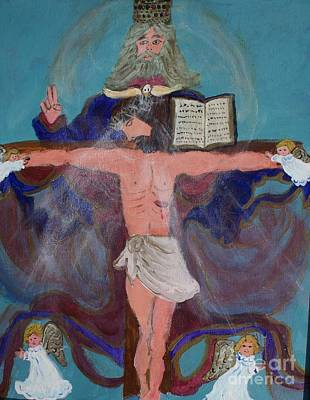 Abba Father Painting - The Trinity by Seaux-N-Seau Soileau