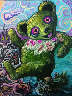 The Tripy Bear Art Print