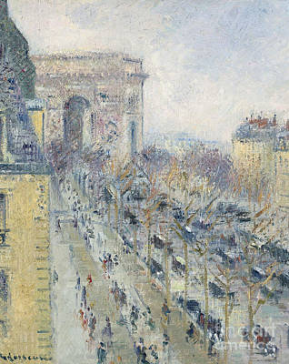 Impressionism Painting - The Triumph Arch And Friedland Avenue by MotionAge Designs