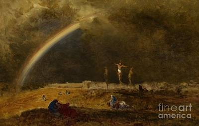 Pain Painting - The Triumph At Calvary by George Inness