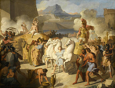 Painting - The Triumph Of A Roman Hero Possibly Marcus Claudius Marcellus  by Vincenzo Camuccini