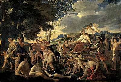 Flores Painting - The Triumph Of Flora by Nicolas Poussin